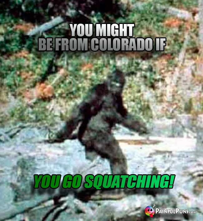 You might be from Colorado if you go Squatching!