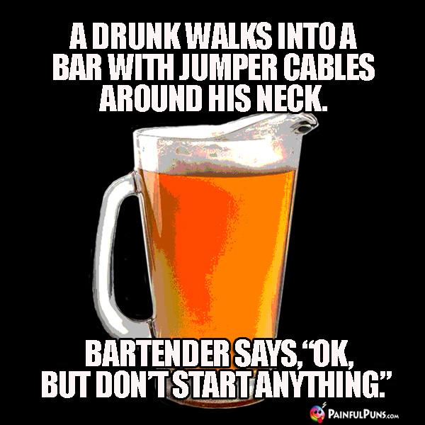 Bar Jokes, Drunken Puns, Bartender Humor 1
