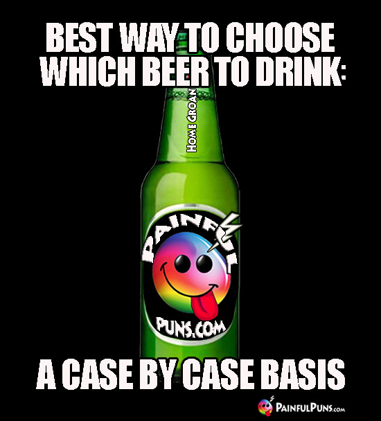 Best way to choose which beer to drink: a case by case basis