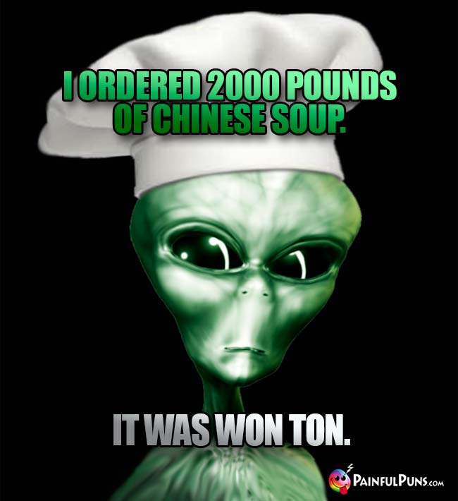 ET Chef Says: I ordered 2000 pounds of Chinese soup. It was Won Ton.