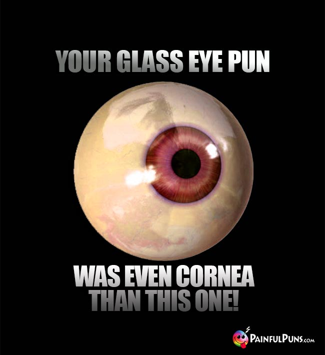 Your glass eye pun was even cornea than this one!