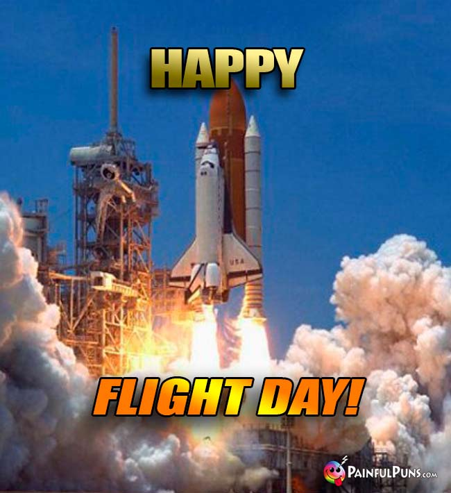 Space Shuttle Says: Happy Flight Day!