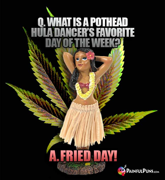 What is a pothead hula dancer's favorite day of the week? Fried Day!