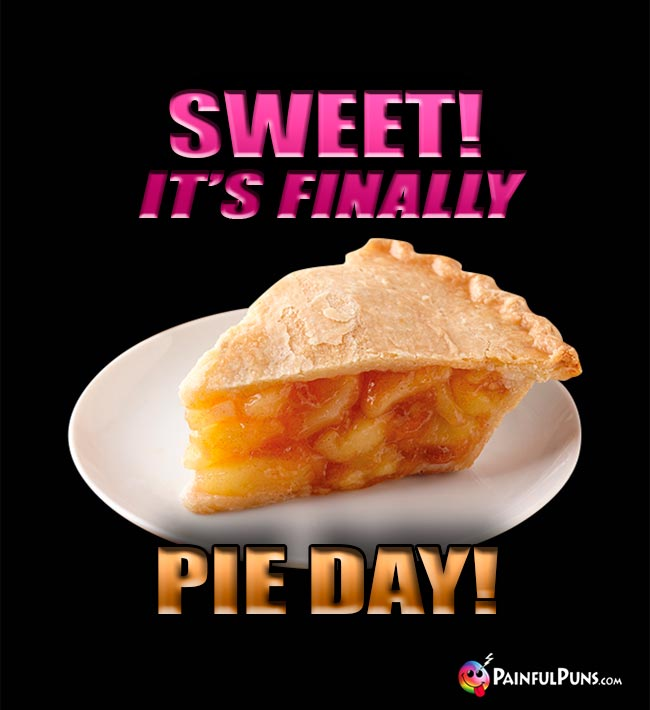 Sweet! It's finally Pie Day!