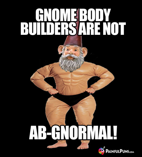 Gym Joke: Gnome body builders are not ab-gnormal!