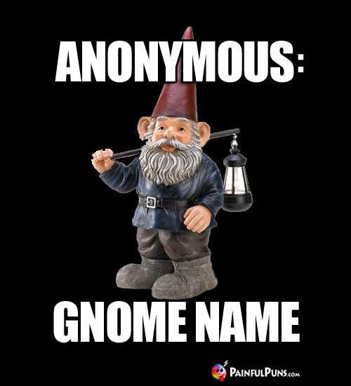 Anonymous: Gnome Name