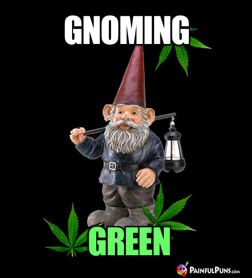 Pot Pun: Gnoming Green