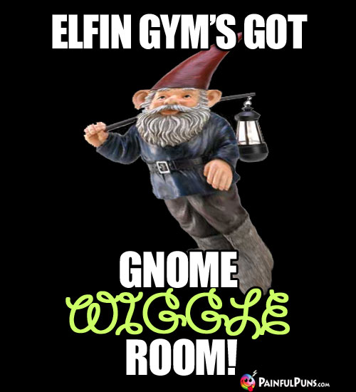 Fitness Humor: Elfin Gyms Got Gnome Wiggle Room!