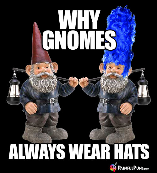 Why gnomes always wear hats.