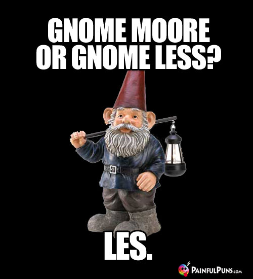 Gnome Moore or Gnome Less? Les.