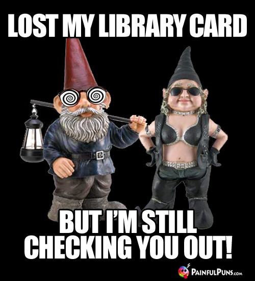 Lost my library card, but I'm still checking you out!