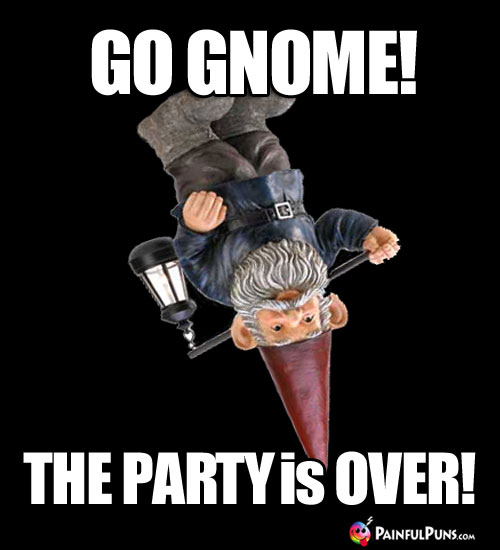 Go Gnome! The Party is Over!