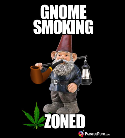 Pot Meme: Gnome Smoking Zoned