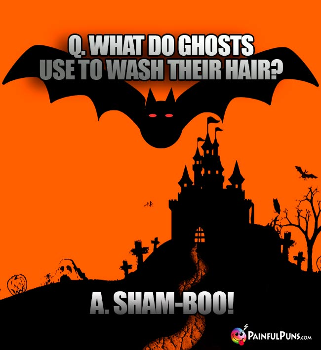 Q. What do ghosts use to wash their hair? A. Sham-boo!