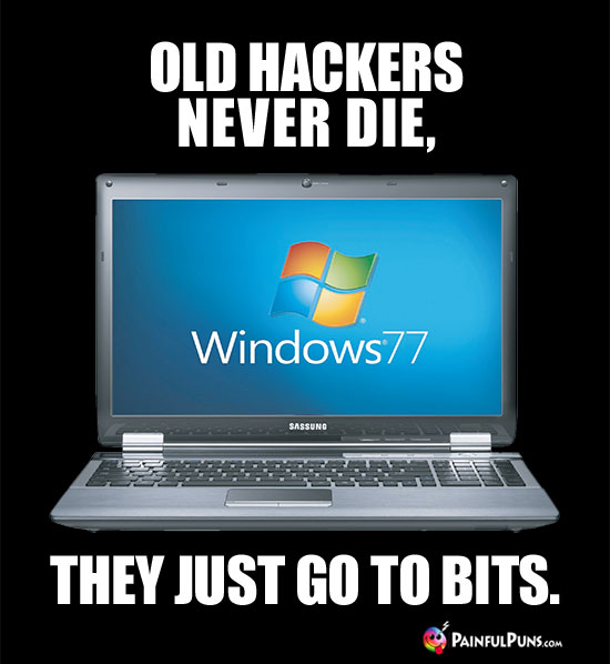 Old Hackers Never Die, They Just Go To Bits.