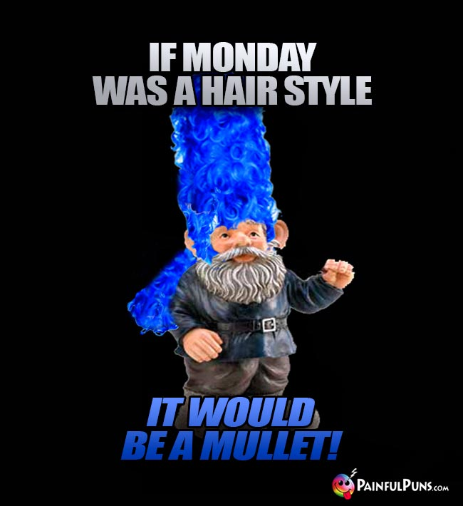 If Monday was a hair style, it would be a mullet!
