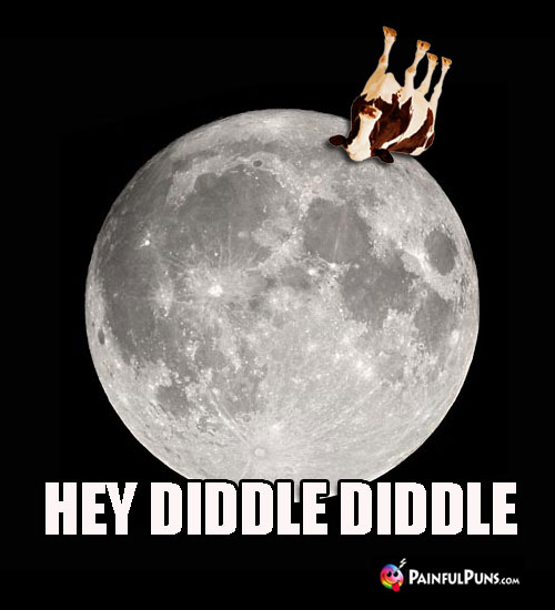 Cow Over the Moon Meme: Hey Diddle Diddle.