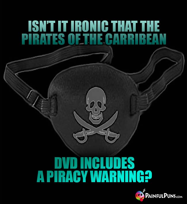 Isn't it ironic that the Pirates of the Carribean DVD includes a piracy warning?