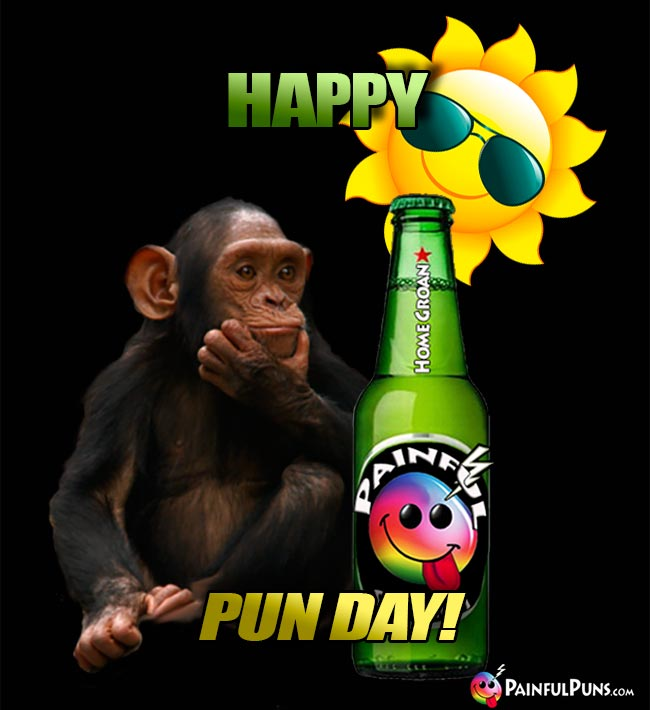 Chimp Says: Happy Pun Day!