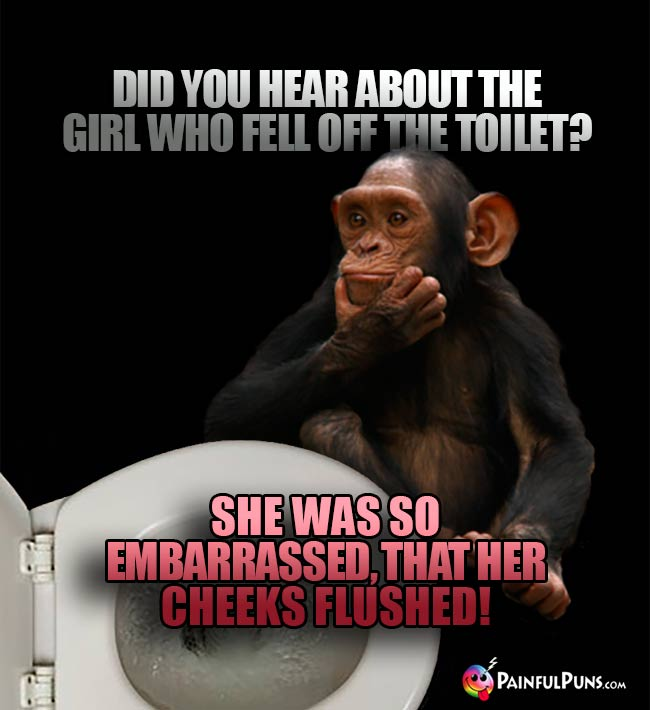 Did you hear about the girl who fell off the toilet? She was so embarrassed, that her cheeks flushed!