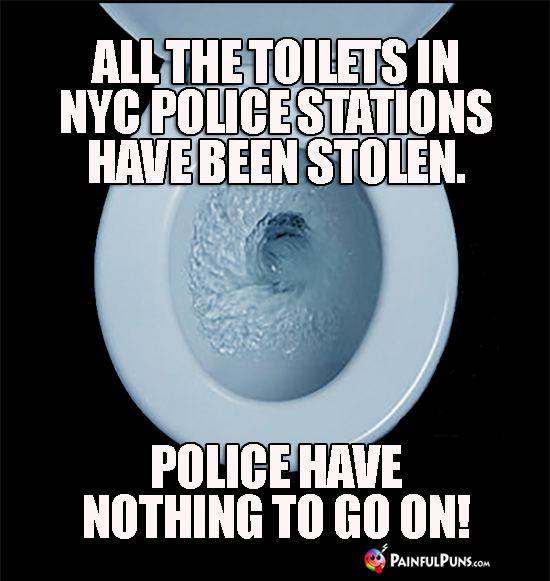 All the toilets in NYC police stations have been stolen. Police have nothing to go on!