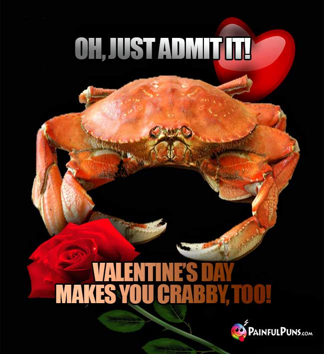 Oh, just admit it! Valentine's day makes you crabby, too!