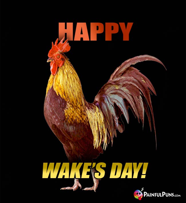 Rooster Says: Happy Wake's Day!