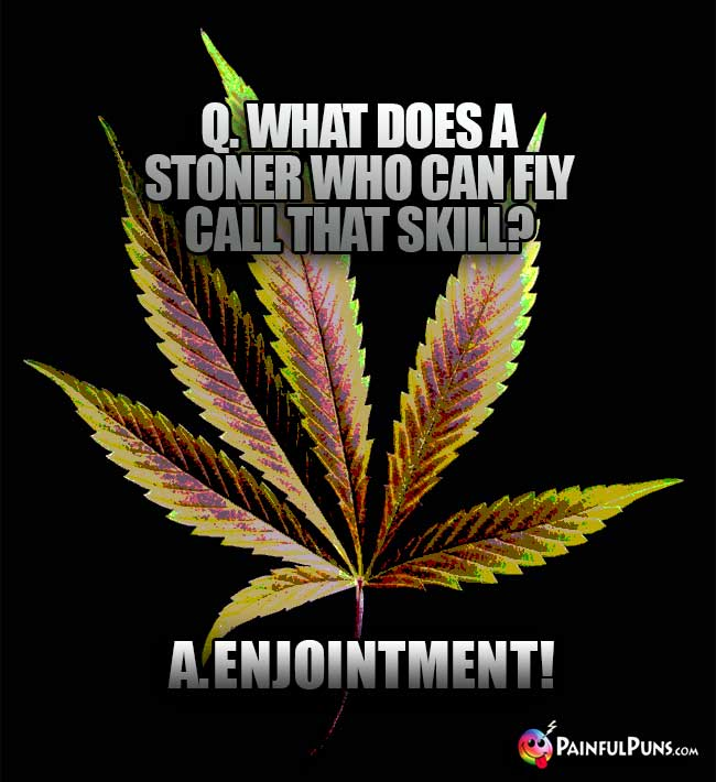 Q. What does a stoner who can fly call that skill? A. Enjointment!