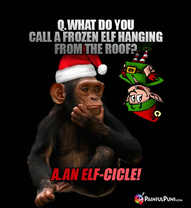 Q. What do you call a frozen elf hanging from the roof? A. An Elf-cicle!
