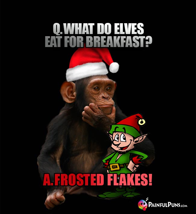 Q. What do elves eat for breakfast? A. Frosted Flakes!