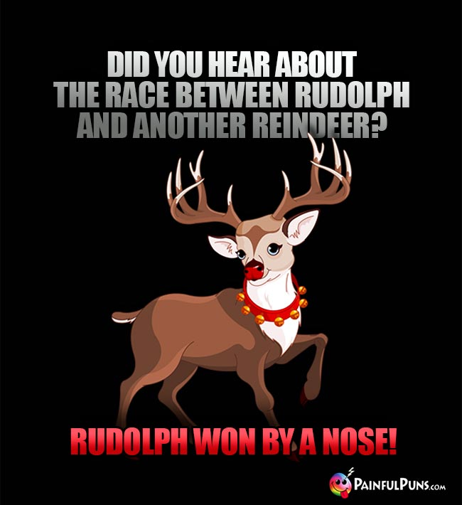 Did you hear about the race between Rudolph and another reindeer? Rudolph won by a nose!